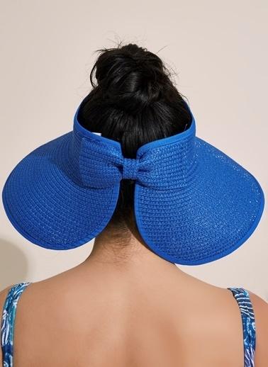 Morhipo Beach Fiyonk Detaylı Hasır Şapka Saks